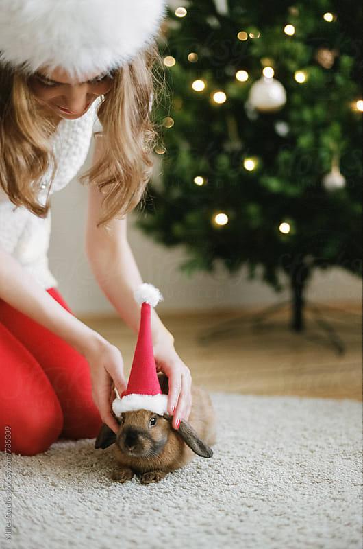 Christmas Girl by Milles Studio for Stocksy United