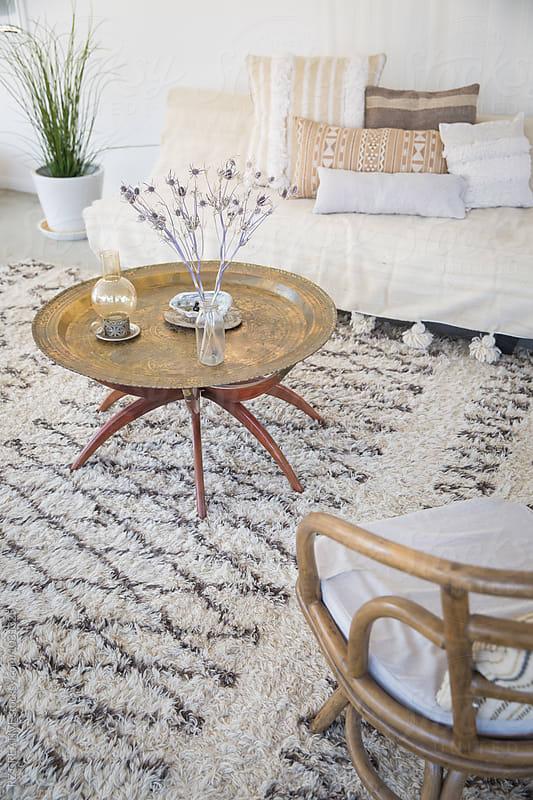 Interior living area of desert home. by Robert Zaleski for Stocksy United