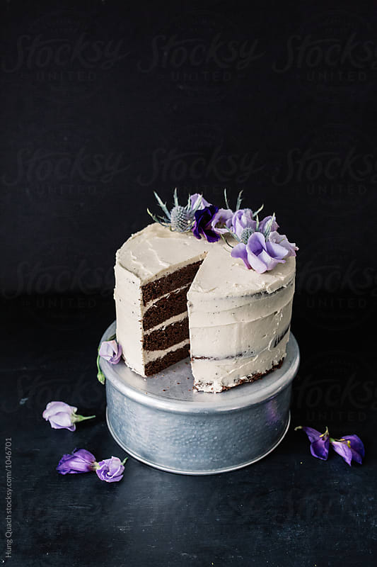 Chocolate Layer Cake by Hung Quach for Stocksy United