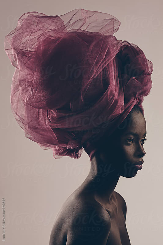 Beautiful Black Woman With a Turban by Lumina for Stocksy United