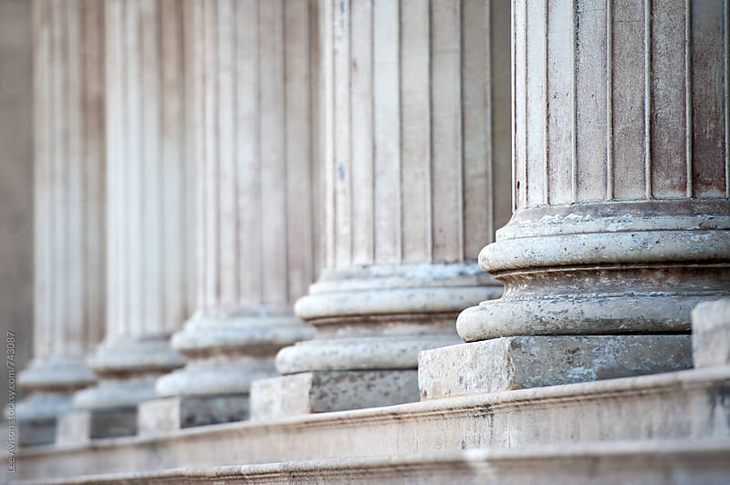 stone columns  by Lee Avison for Stocksy United