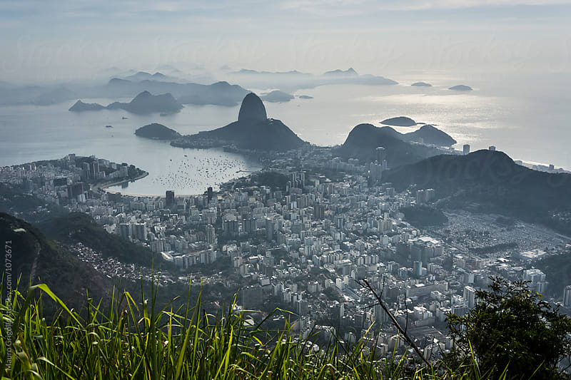View from the Christ in Rio de Janeiro, Brazil by Mauro Grigollo for Stocksy United