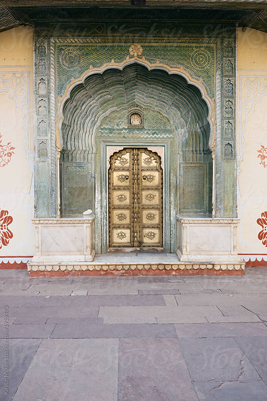 City Palace door Jaipur by Kirstin Mckee for Stocksy United & City Palace door Jaipur by Kirstin Mckee - Stocksy United