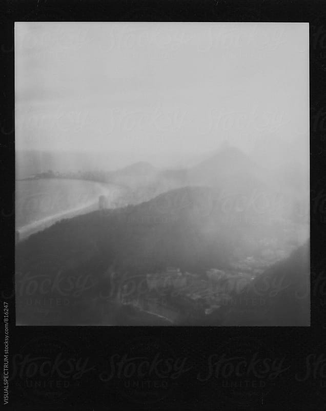 Rio de Janeiro - Black and White Polaroid of Copacabana Beach by VISUALSPECTRUM for Stocksy United