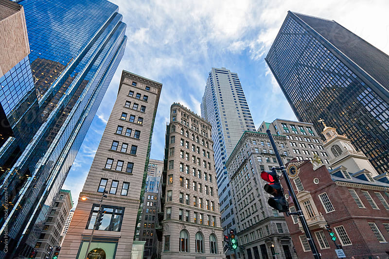 USA, Massachusetts, Boston, Downtown Financial District by Gavin Hellier for Stocksy United