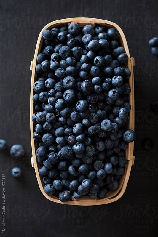 Blueberries  by Mental Art + Design for Stocksy United