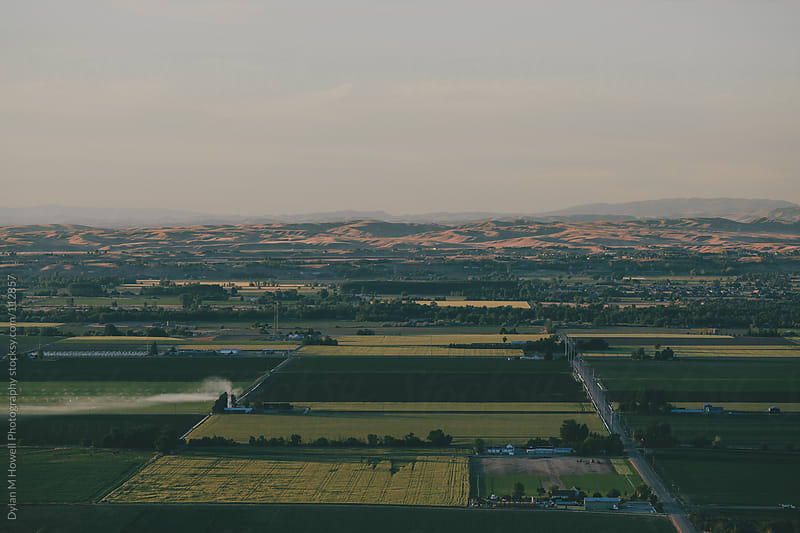 Farm land by helicopter by Dylan M Howell Photography for Stocksy United