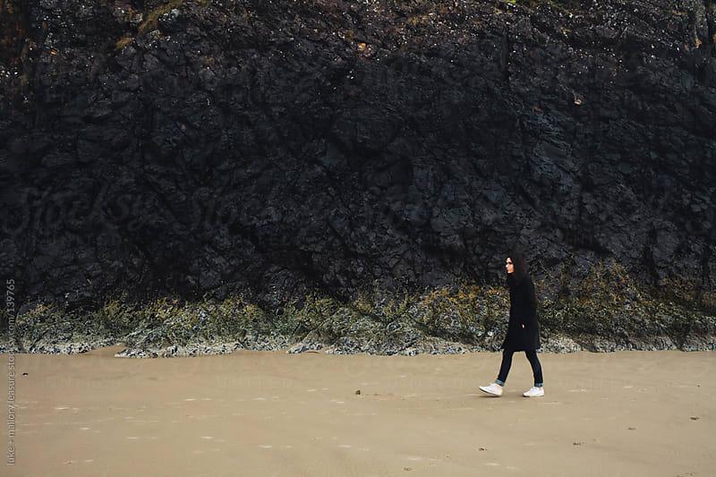 Woman on Beach by luke + mallory leasure for Stocksy United