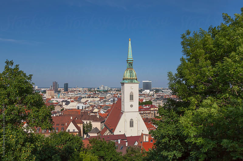 Bratislava, Slovakia - City Skyline with St. Martin's Cathedral by Tom Uhlenberg for Stocksy United