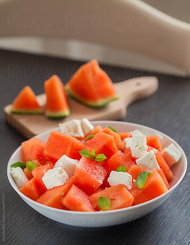 Watermelon Salad by Davide Illini for Stocksy United