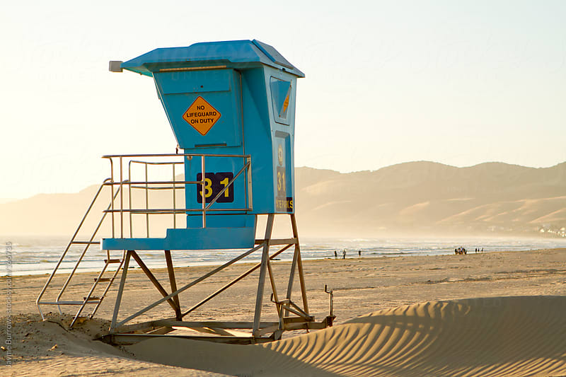 California Lifeguard Stand by Jayme Burrows for Stocksy United