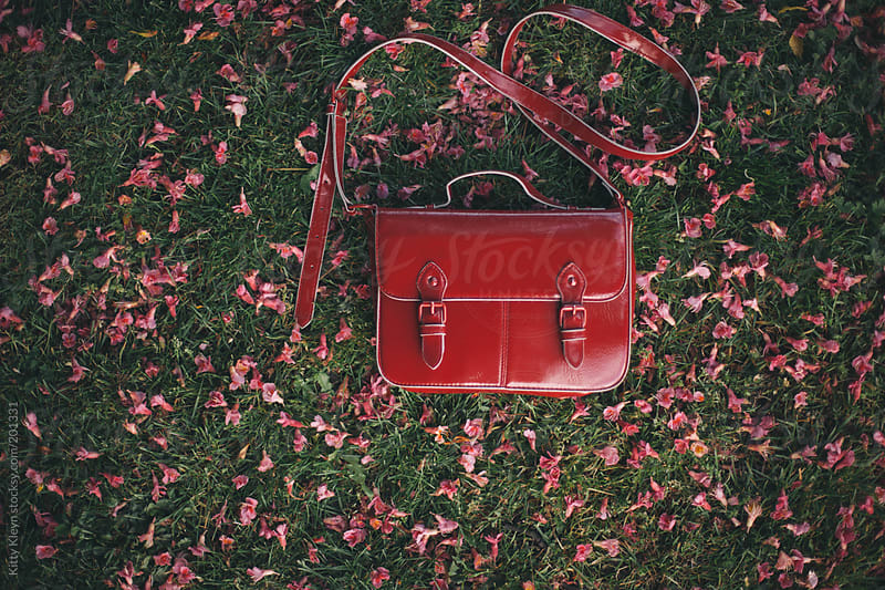 Little red satchel by Kitty Kleyn for Stocksy United