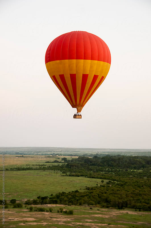 Floating air balloons in Kenia, Africa by Marta Muñoz-Calero Calderon for Stocksy United
