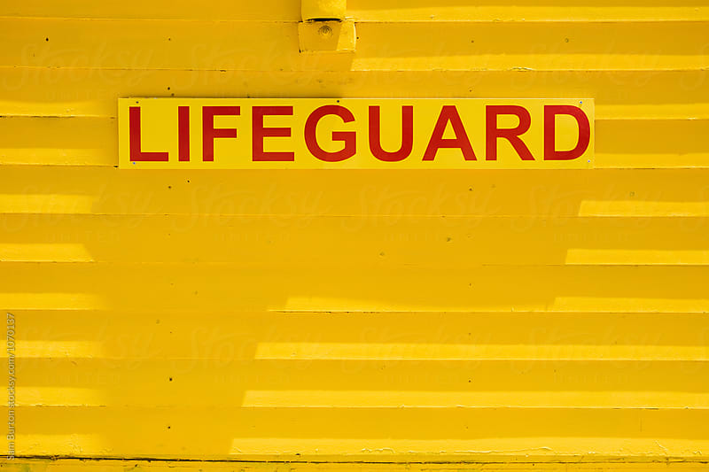 Lifeguard sign by Sam Burton for Stocksy United