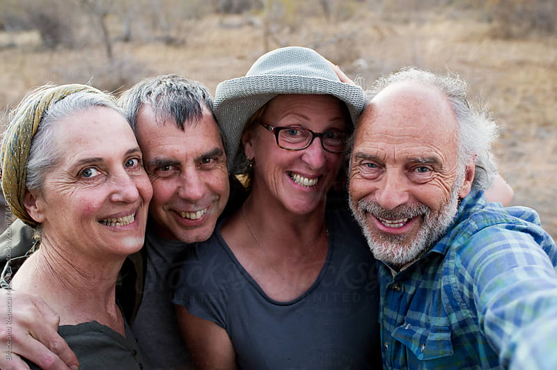 Four Friends take a Selfie by Bruce Meissner for Stocksy United
