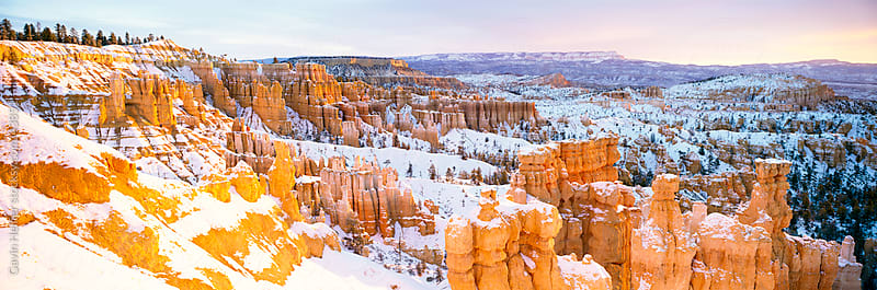 United States of America, Utah, Bryce Canyon National Park, Rock 'Hoodos' in Bryce Amphitheatre by Gavin Hellier for Stocksy United