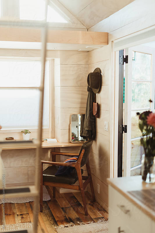 Interior of a well decorated tiny home. by Kate Daigneault for Stocksy United