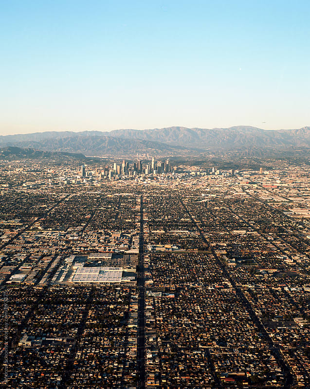 LA by air by Andrew Schoener for Stocksy United