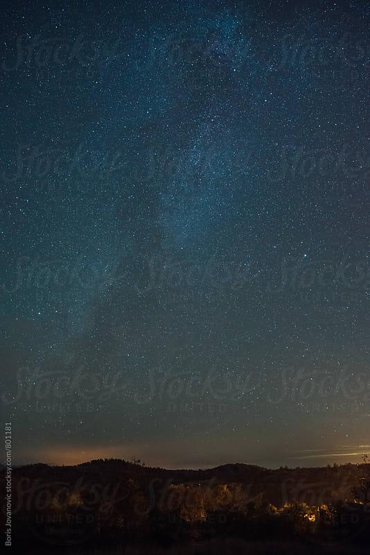Milky way landscape  by Boris Jovanovic for Stocksy United
