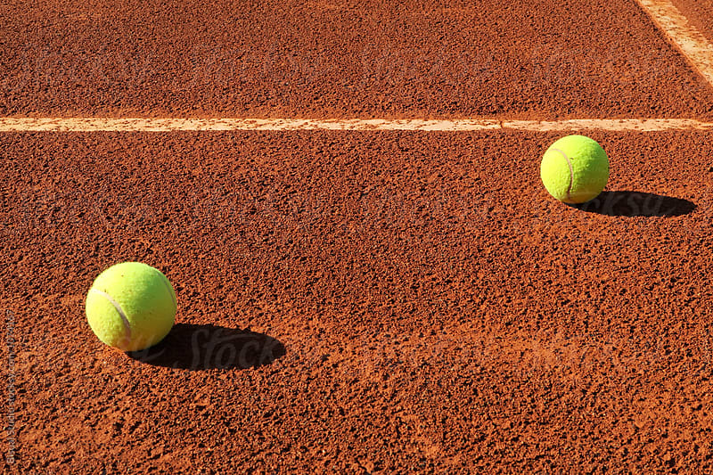 Detail of a clay court of tennis