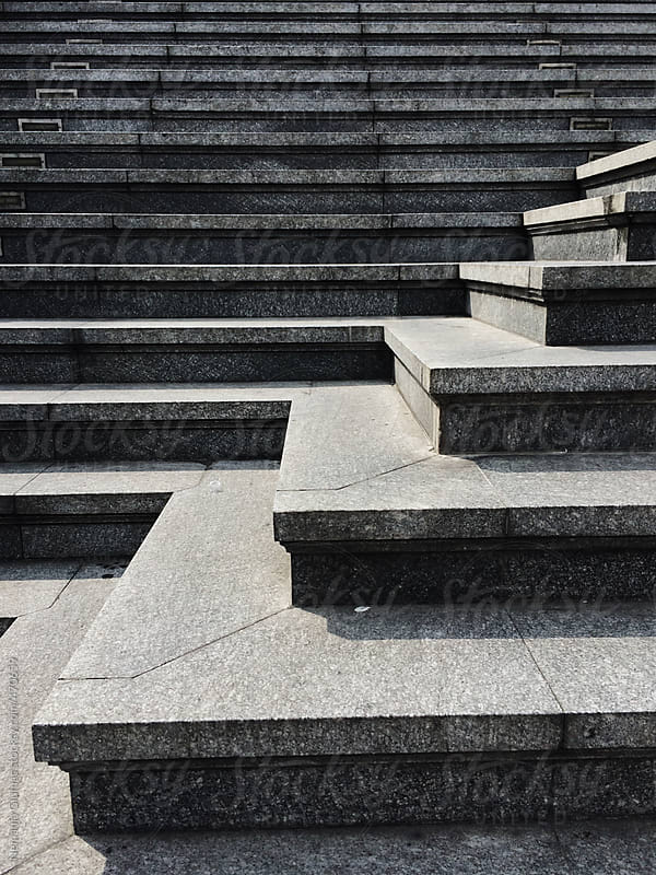 Stairs Leading to the Wat Traimit Temple in Bangkok. by Nemanja Glumac for Stocksy United