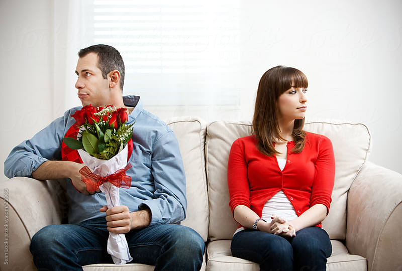 Valentine: Couple Not Excited For Romance by Sean Locke for Stocksy United