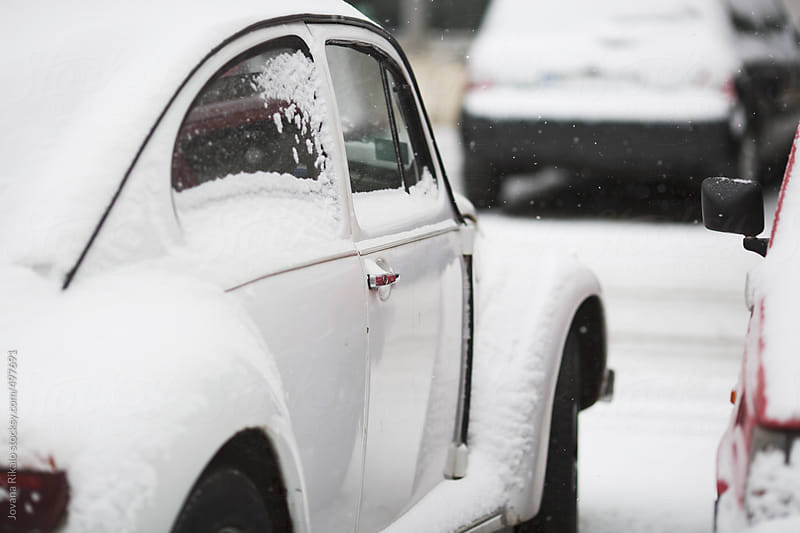 Car Covered in Snow by Jovana Rikalo for Stocksy United