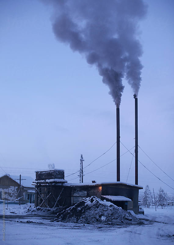 A coal-fired heating plant in Siberia by Amos Chapple for Stocksy United