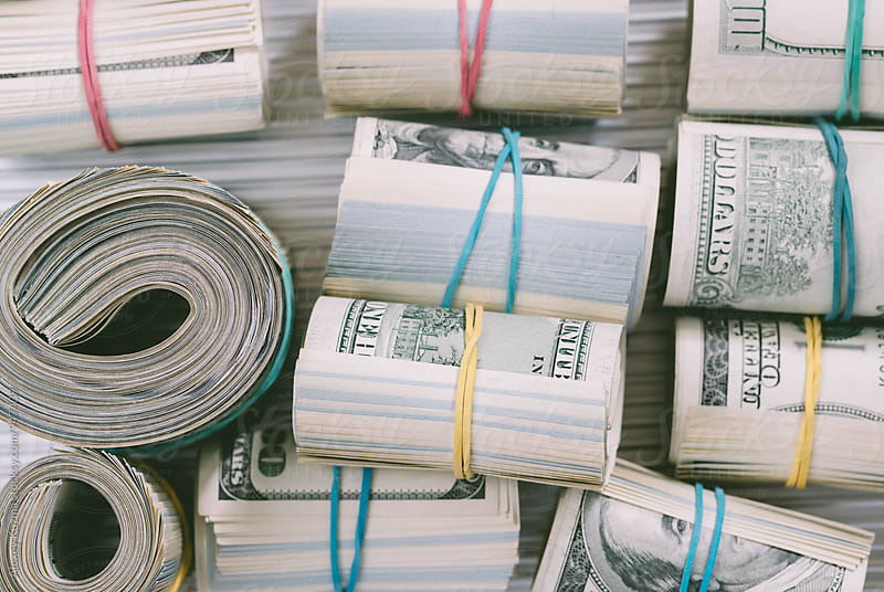 US dollars in closeup. by Vesna for Stocksy United