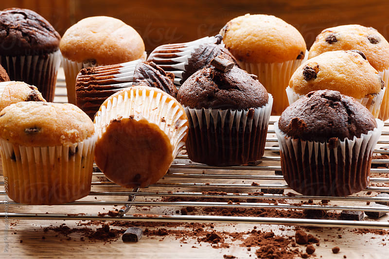 Fresh baked muffins by Paul Phillips for Stocksy United