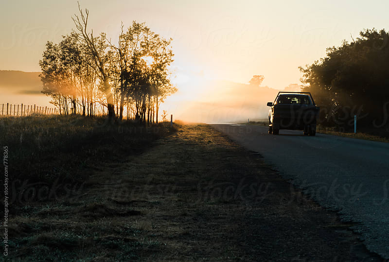 Ute on an Australian Country Road by Gary Radler Photography for Stocksy United