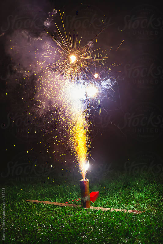 Fireworks Shooting Sparks by Stephen Morris for Stocksy United