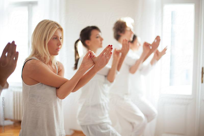 Eagle Yoga Pose by Lumina for Stocksy United