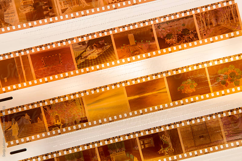 yellow film background by Sonja Lekovic for Stocksy United