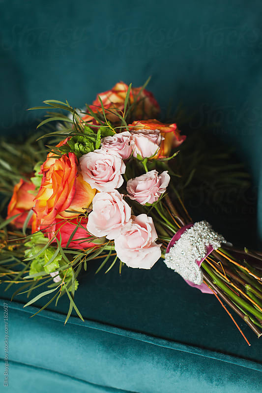 Bouquet of roses  by Ellie Baygulov for Stocksy United