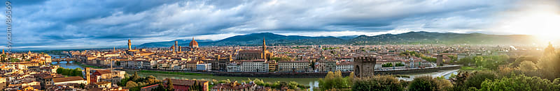 Florence skyline during dawn by GIC for Stocksy United