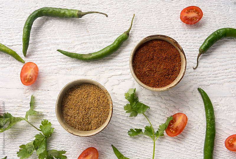 Chili Powder, Cummin with Jalapeno Chili Peppers,Cilantro and C by Studio Six for Stocksy United