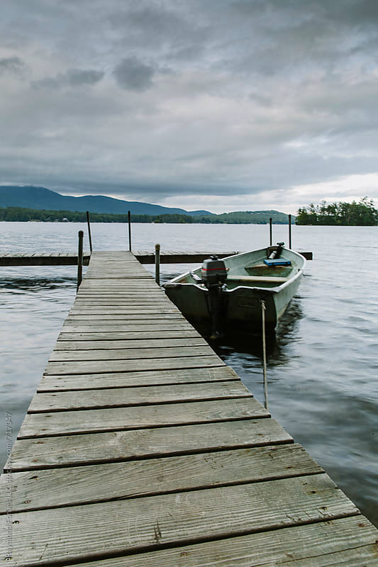 Boat at Dock New Hampshire by Raymond Forbes LLC for Stocksy United