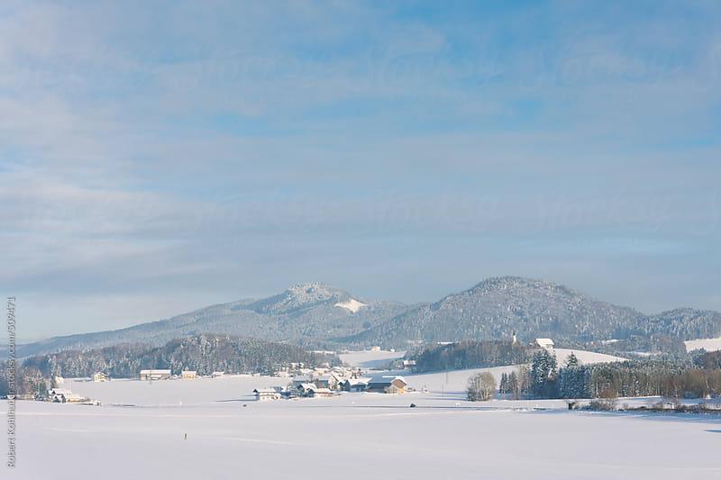 Winter landscape in austria by Robert Kohlhuber for Stocksy United