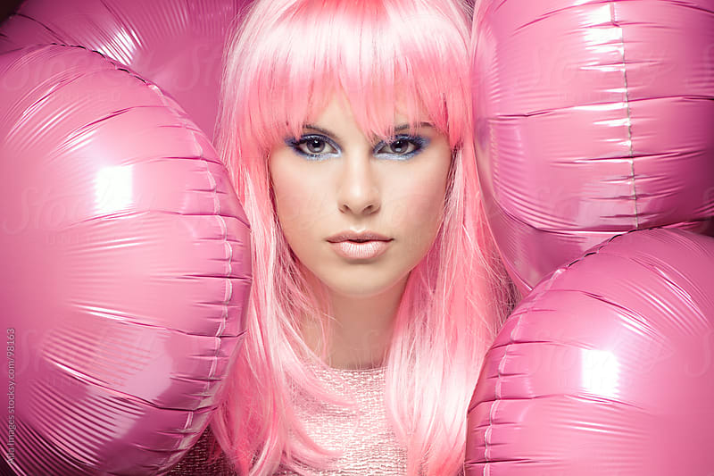 Pink Party Girl by Aila Images for Stocksy United