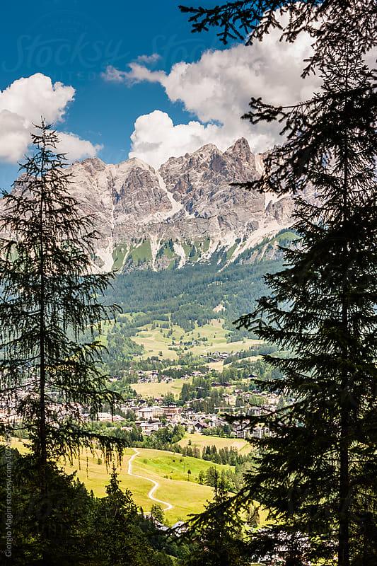 Cortina d'Ampezzo Town in Italian Dolomite Mountains by Giorgio Magini for Stocksy United