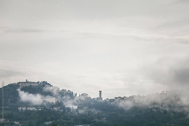 Fiesole Hill Surrounded by Morning Fog, Italy by Giorgio Magini for Stocksy United