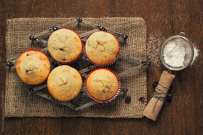 Home-made muffins by Pixel Stories for Stocksy United