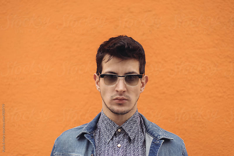 Portrait of  young stylish man by Katarina Simovic for Stocksy United