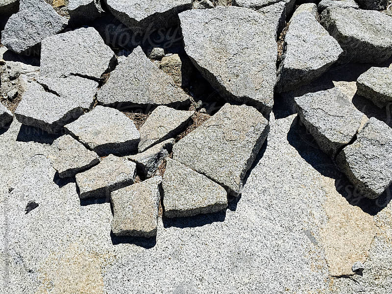 Fractured slabs of granite rock, High Sierra, CA by Paul Edmondson for Stocksy United