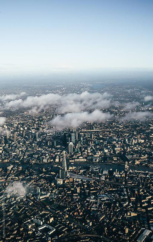 London Skyline Aerial by Agencia for Stocksy United