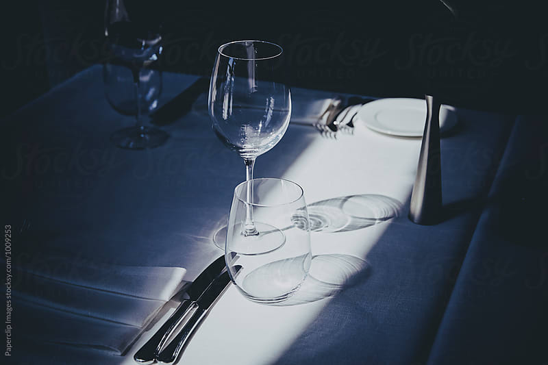 Restaurant table by Paperclip Images for Stocksy United