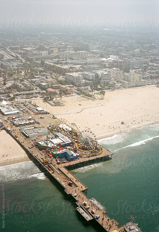 Santa Monica Pier by Skyler Dahan for Stocksy United