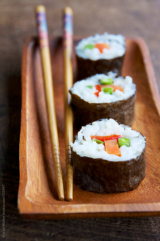 Vegetarian Sushi by Harald Walker for Stocksy United
