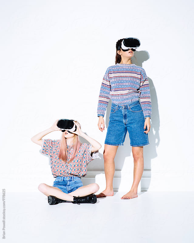 virtual reality retro friends by Brian Powell for Stocksy United